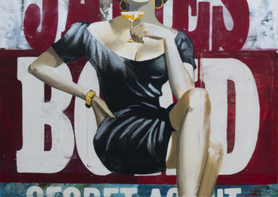 Bond glam girl | Mixta/tela | 153 x 117 cm | 2013
